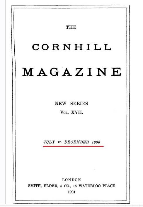 cornhill magazine1904 cover 1904   Cornhill Magazine about Macedonia