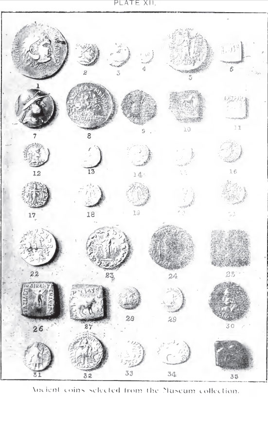 lahori coins Greco Bactrian coins in the Lahori Museum   1908