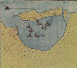 nautikos xartis navarino 300x265 Τα Ορλωφικά και οι Σφαγές Πληθυσμών στην Τριπολιτσά
