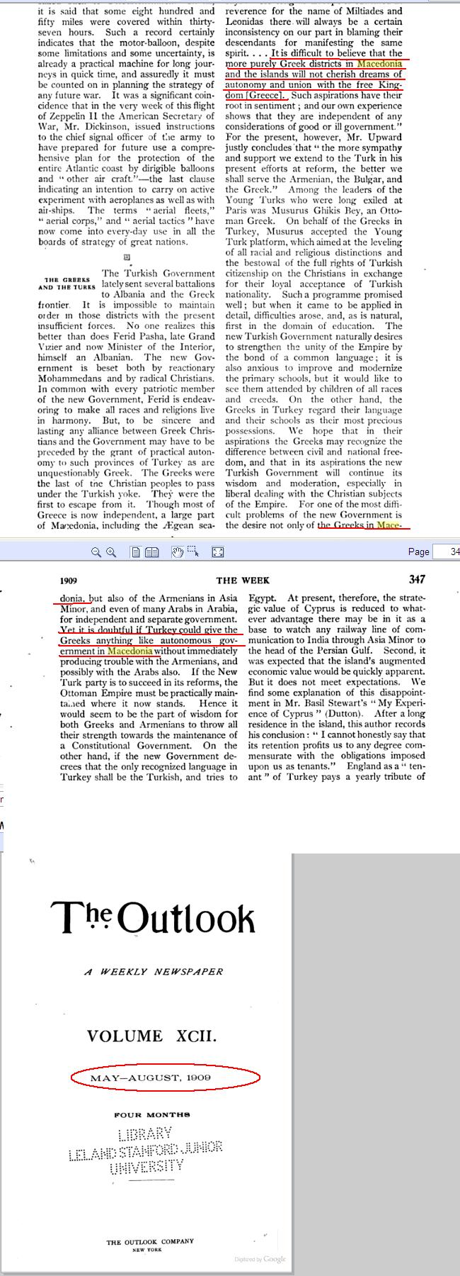 theoutlook1909dj2 The Outlook of 1909 about the Greek Districts of Macedonia