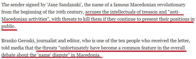 death threats H δυστυχία να είσαι Σκοπιανός δημοσιογράφος
