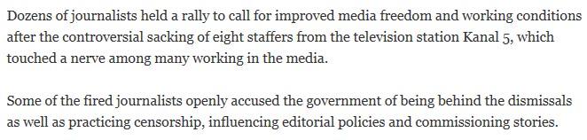 sacking H δυστυχία να είσαι Σκοπιανός δημοσιογράφος