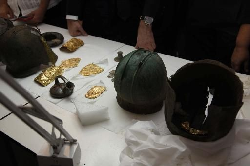 makedonikos thysayros Antiquities seized in Macedonia (Northern Greece)