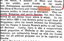Manchester Guardian, 15 Jan. 1903 - A 'Macedonian' Nation does not exist