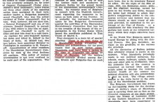 "New York Times, 1925 - Komitadjis aim ""Union"" with Bulgaria"