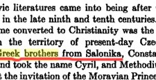 International Sources on Saints Cyril and Methodius being Greeks