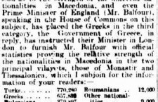 "2 Oct 1903 – The Prime Minister of England Balfour knew NO ""Ethnic Macedonians"""