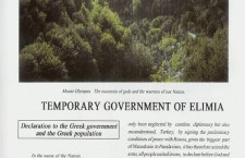 Declarations of Union with Greece- Temporary government of Elimia