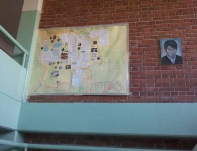 """Αλυτρωτικός χάρτης της """"Μεγάλης Μακεδονίας"""" σε σχολείο στο Κίτσεβο"""