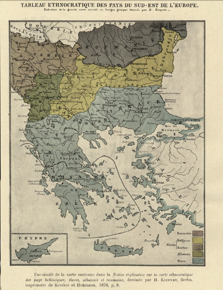 Macedonia – Ethnographic Map of Kiepert (1878)