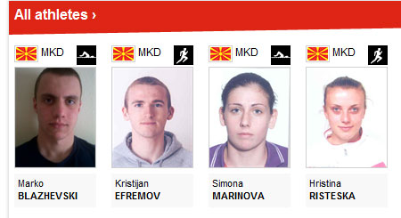 fyrom athletes Αναφορές στα Σκόπια ως Μακεδονία στην επίσημη Ιστοσελίδα των Ολυμπιακών αγώνων