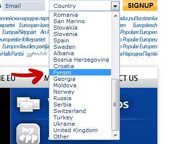 fyrom country Aπό το Ευρωπαϊκό Λαϊκό Κόμμα με αγάπη προς τους Σκοπιανούς