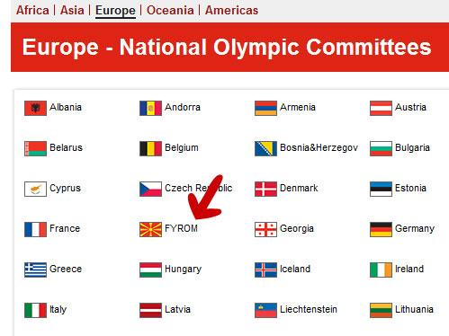Νέο Φιάσκο της ΕΟΕ – Ως MKD τα Σκόπια στην Ιστοσελίδα των Ολυμπιακών Αγώνων