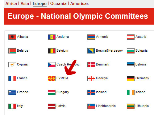 london2012 Νέο Φιάσκο της ΕΟΕ   Ως MKD τα Σκόπια στην Ιστοσελίδα των Ολυμπιακών Αγώνων