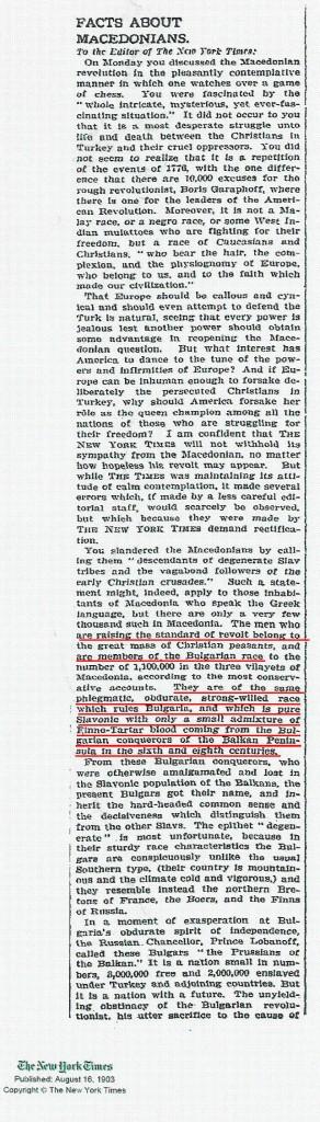 tsannoff11 292x1024 1903   Επιστολή Διαμαρτυρίας Σλάβων της Μακεδονίας στην New York Times : Eίμαστε Βούλγαροι !!!