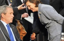 victoria nuland and bush 225x145 Πού βρίσκεται η υπόθεση των Σκοπίων