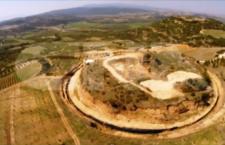 Αμφίπολη : Οι ανασκαφές στο λόφο Καστά από ψηλά