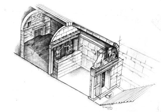 Νεκρικός θάλαμος στα σχέδια του Πλάτωνα