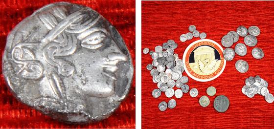 Chalkidiki Ογδόντα μακεδονικά νομίσματα επεστράφησαν από την Ιταλία στην Ελλάδα