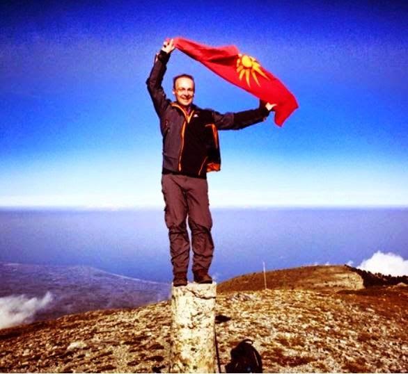scorpians3 Σκοπιανό παραλήρημα: Στην κορυφή του Ολύμπου με τον Ήλιο της Βεργίνας ο Μιλόσοσκι
