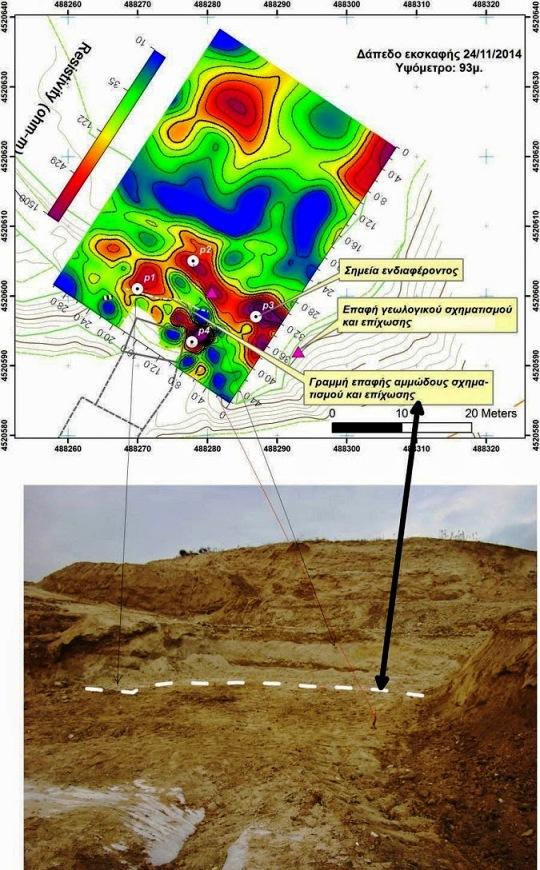 104 ΥΠΠΟΑ: Η γεωφυσική διασκόπηση και η γεωλογική χαρτογράφηση του λόφου Καστά στην Αμφίπολη