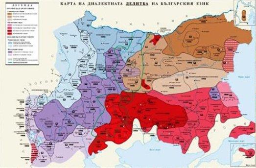 Πρόκληση! Χάρτης εμφανίζει μέρος της Μακεδονίας να ομιλεί  βουλγαρικά