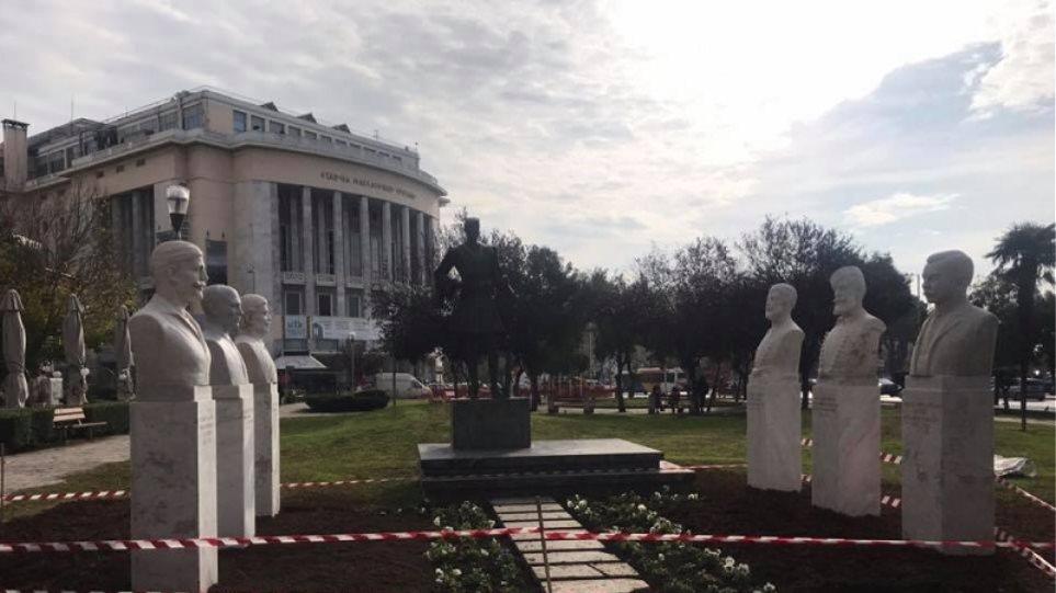 Θεσσαλονίκη: Τοποθετήθηκαν οι έξι προτομές των Μακεδονομάχων
